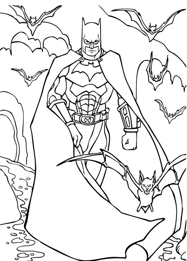 Бэтмен мультик раскраска