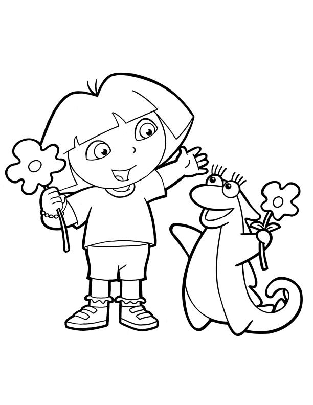 dora explorer girls coloring pages - photo#24