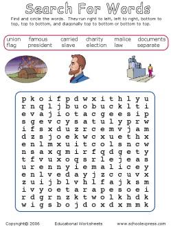 Mewarnai Gambar Dan Permainan Mengenal Abraham Lincoln Bahan
