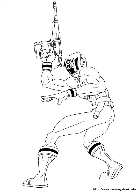 Mewarnai Gambar Power Ranger Bahan Sekolah Minggu